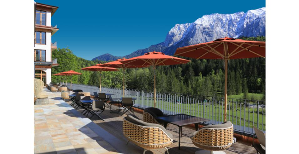 Schloss Elmau Retreat Terrace