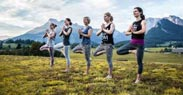 Yoga am Dach