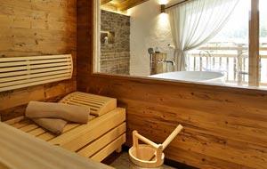 Zimmer mit Sauna