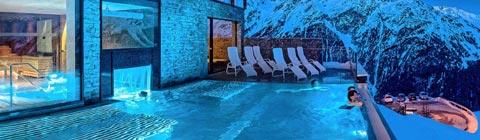 Wellnesshotels auf über 1.000 m Seehöhe mit Freibecken und Außensauna